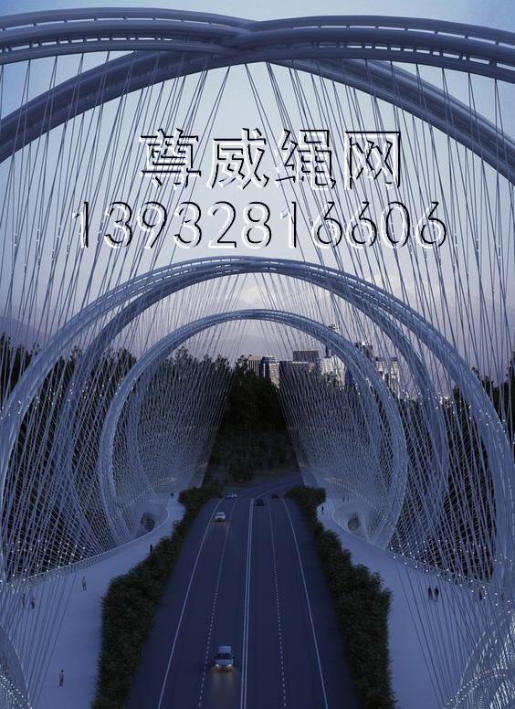 桥梁防护绳网